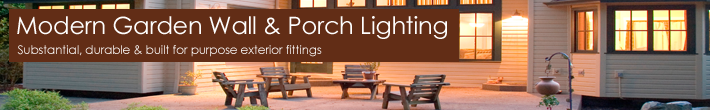 Contemporary Porch and Wall Lighting | Garden Lighting