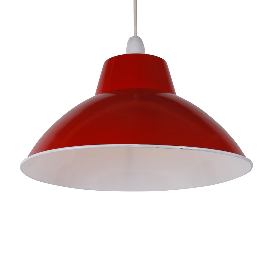 Modern red metal retro industrial style easy fit ceiling light pendant shade