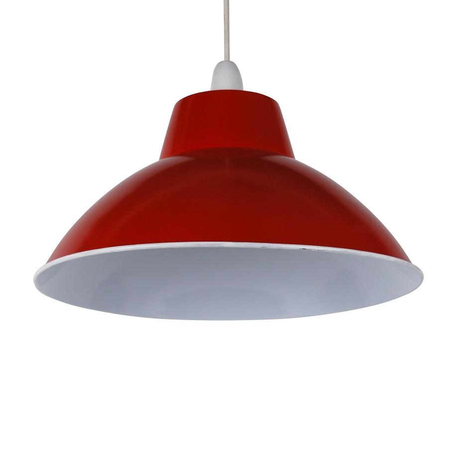 Red Industrial Chandelier: Modern Red Metal Retro Industrial Style Easy Fit Ceiling