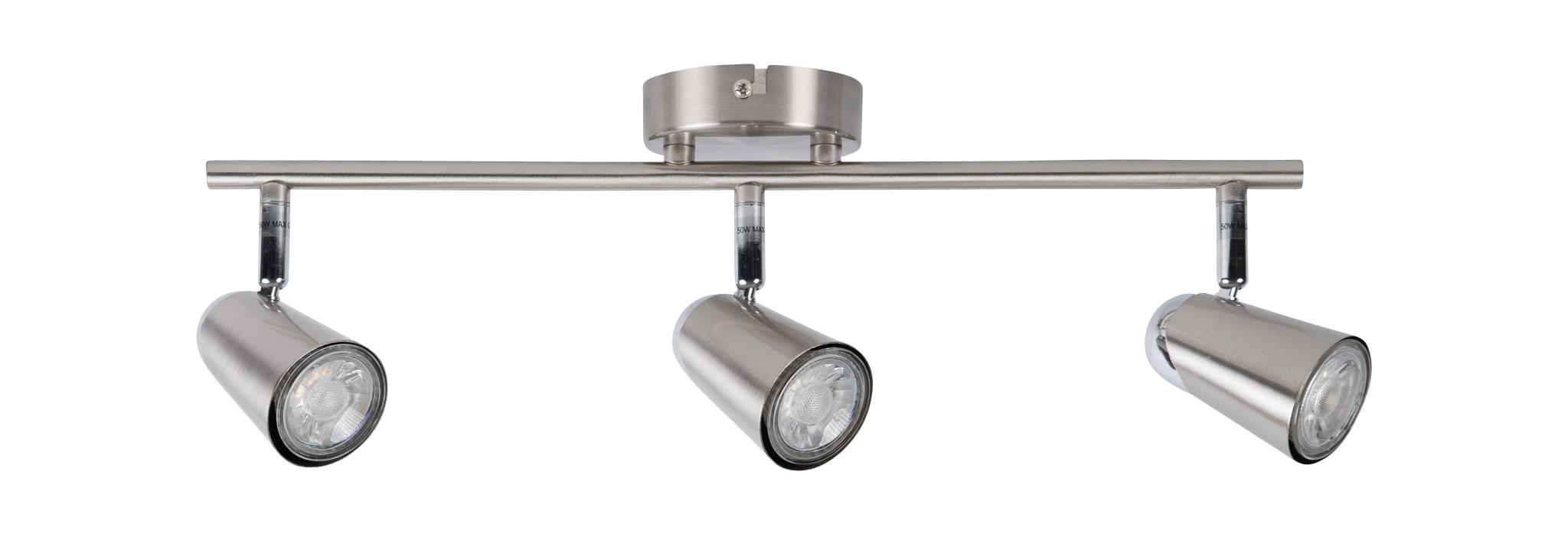 Modern Silver Brushed Chrome 3 Way Spotlight Bar Kitchen Ceiling Spot Light 710560386918 Ebay
