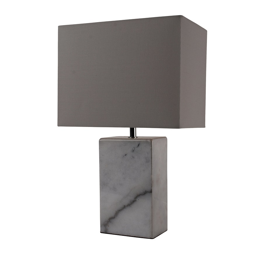 Large Modern Marble Rectangular Bedside Table Lamp Light ...