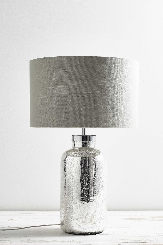 Modern Mercury Glass Bottle Base Table Lamp Bedside Light