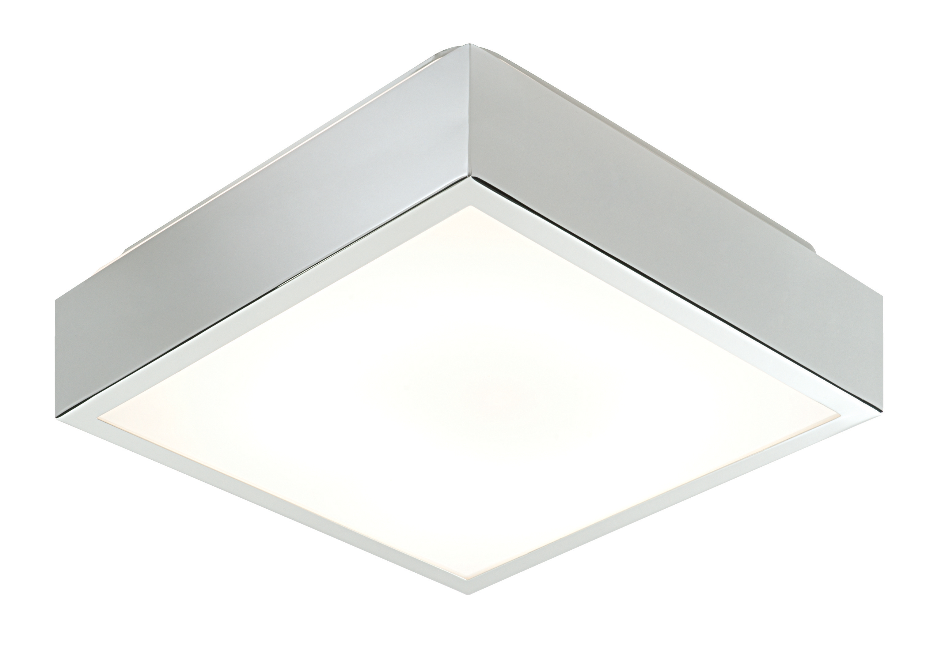 saxby cubita 31949 square chrome bathroom flush ceiling light hf ip44