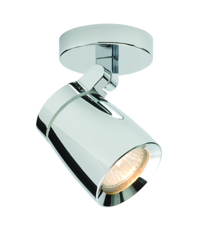 Chrome with clear glass 35w gu10 ip44 double insulated bathroom chrome with clear glass 35w gu10 ip44 double insulated bathroom single spotlight aloadofball Image collections