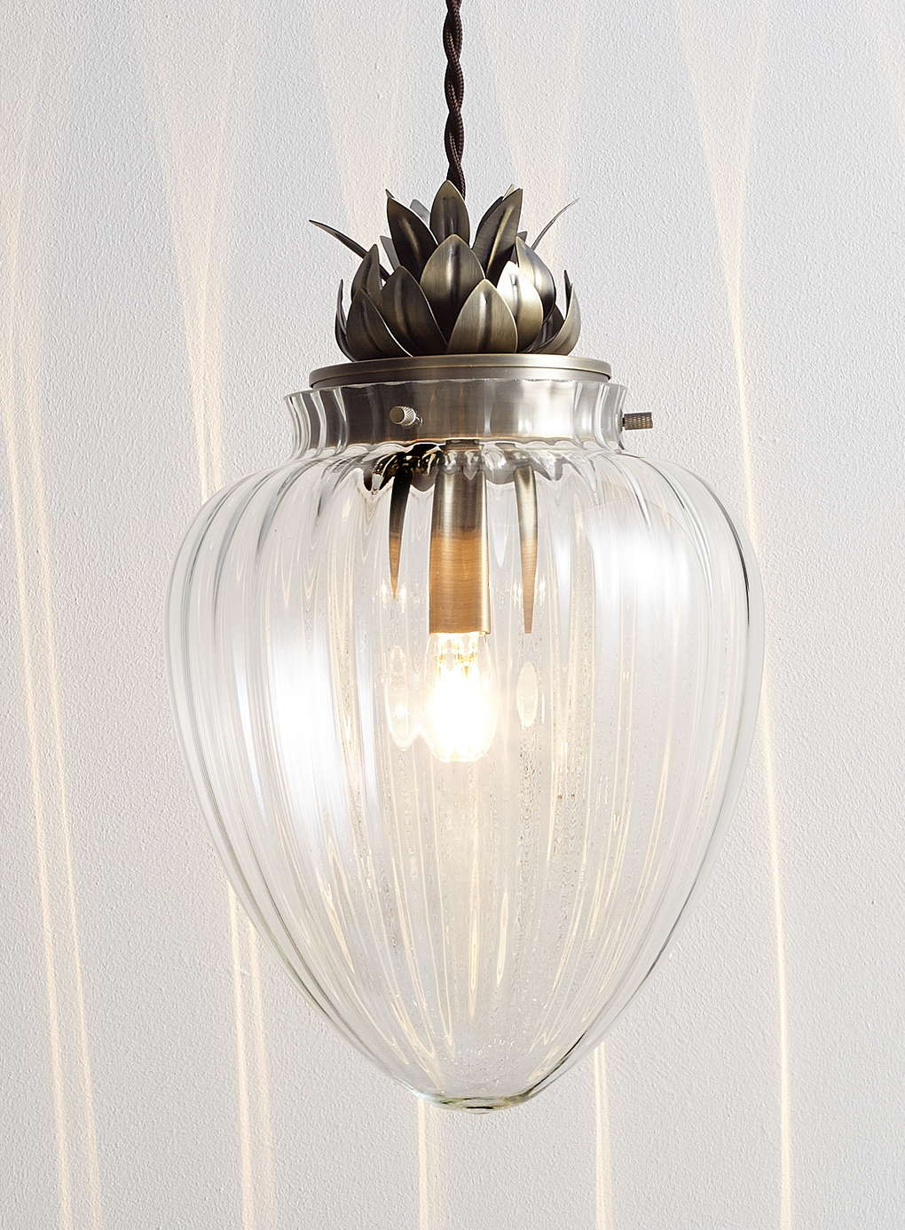 Modern glass antique brass pineapple ceiling pendant light fitting modern glass antique brass pineapple ceiling pendant light fitting bhs janna 714084881867 ebay aloadofball Images