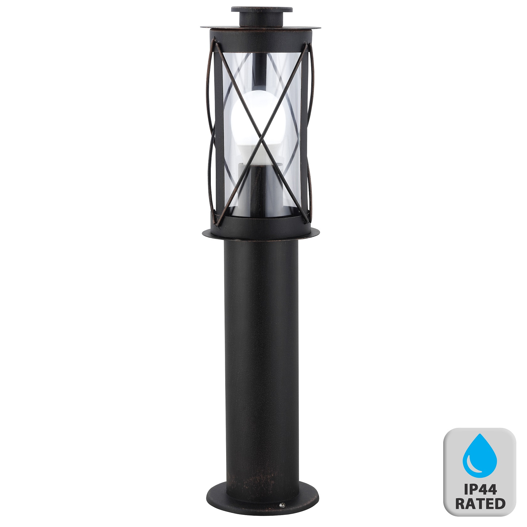 Traditional Nautical Black Ip44 Outdoor Garden Bollard: Traditional Nautical Black IP44 Outdoor Garden Bollard