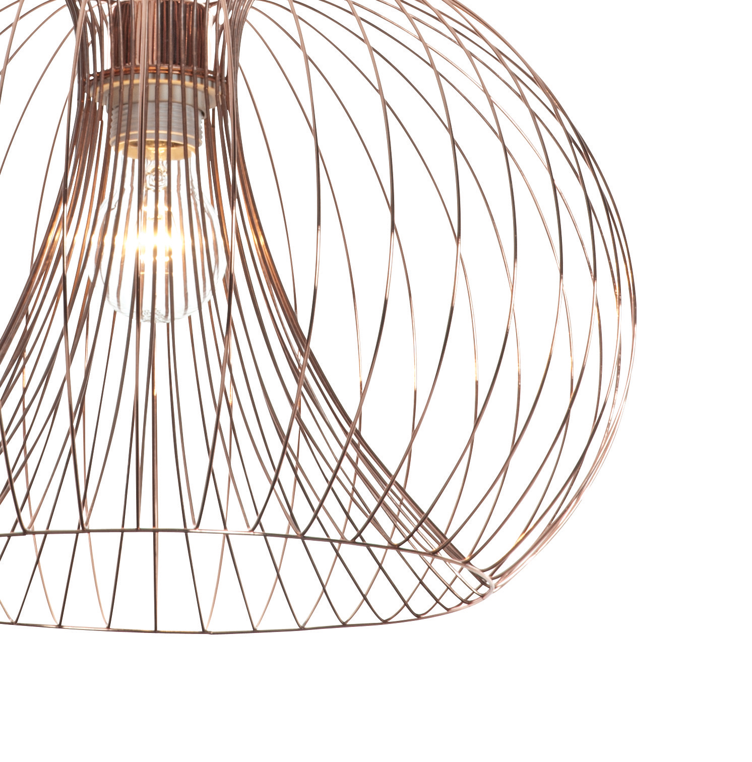 Pair Set Of 2 Modern Copper Wire Ceiling Pendant