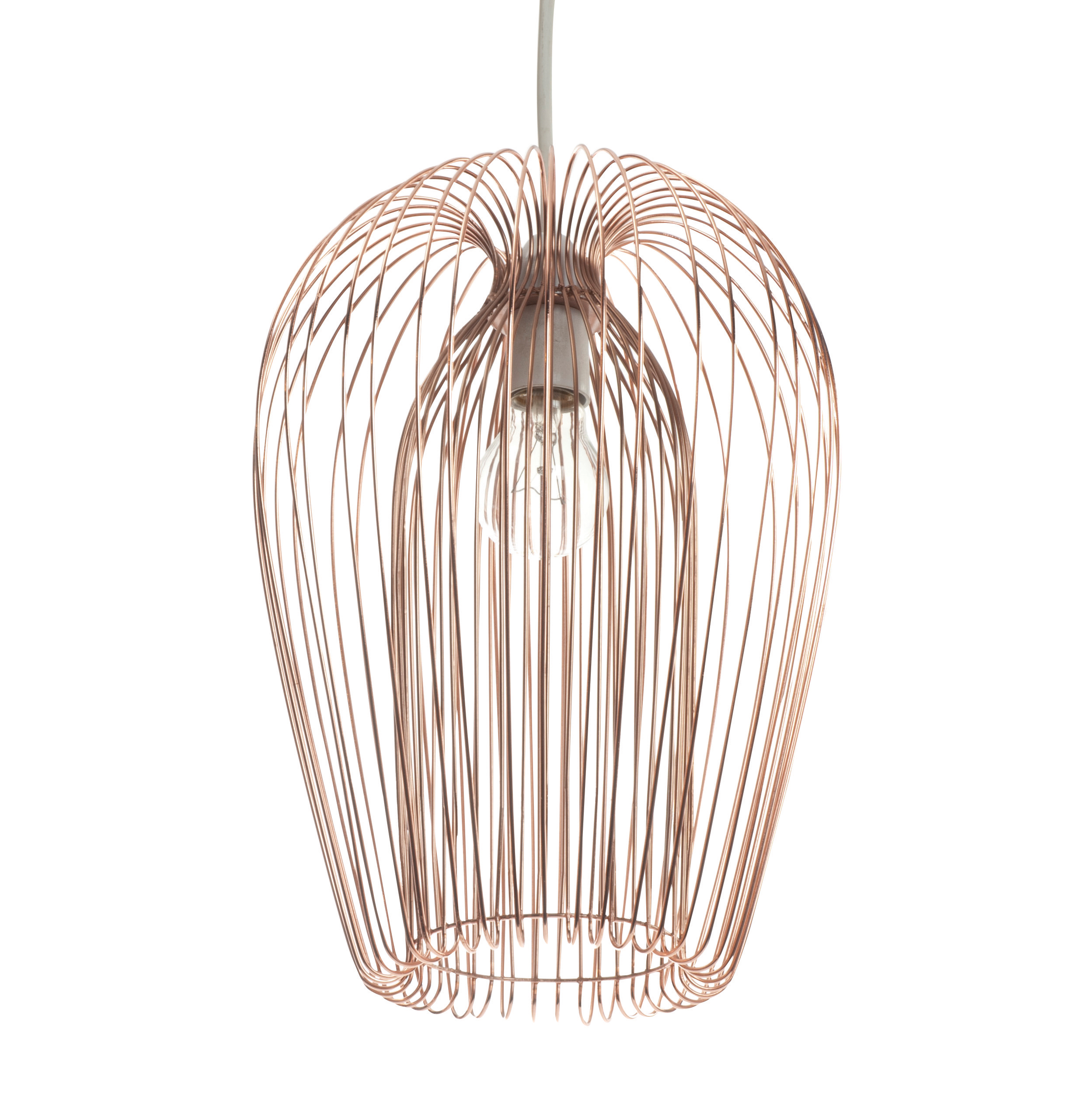Pair Set Of 2 Contemporary Copper Wire Ceiling Light