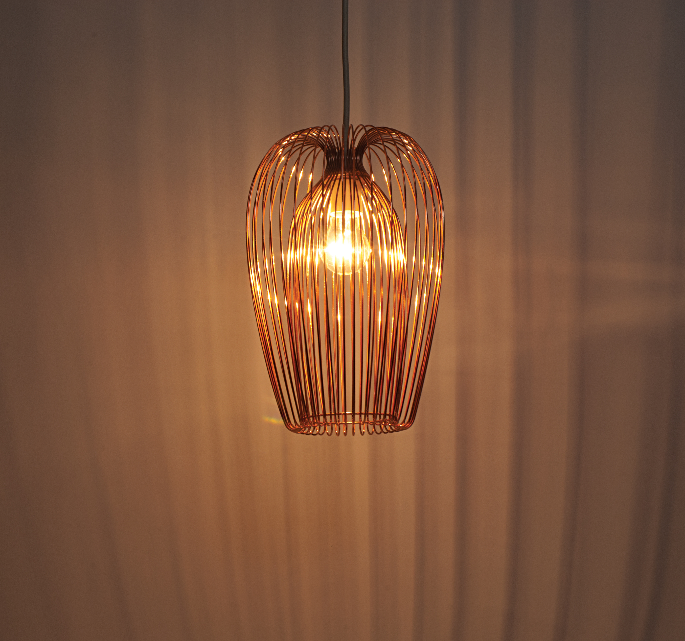 Contemporary Copper Wire Easy Fit Hanging Ceiling Light