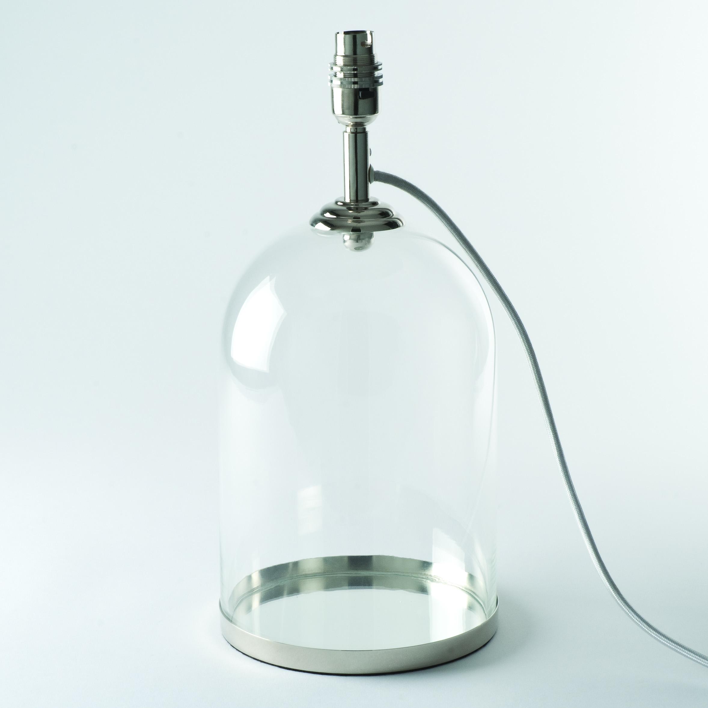 glass cloche design table lamp bases bedside lights lamps new. Black Bedroom Furniture Sets. Home Design Ideas