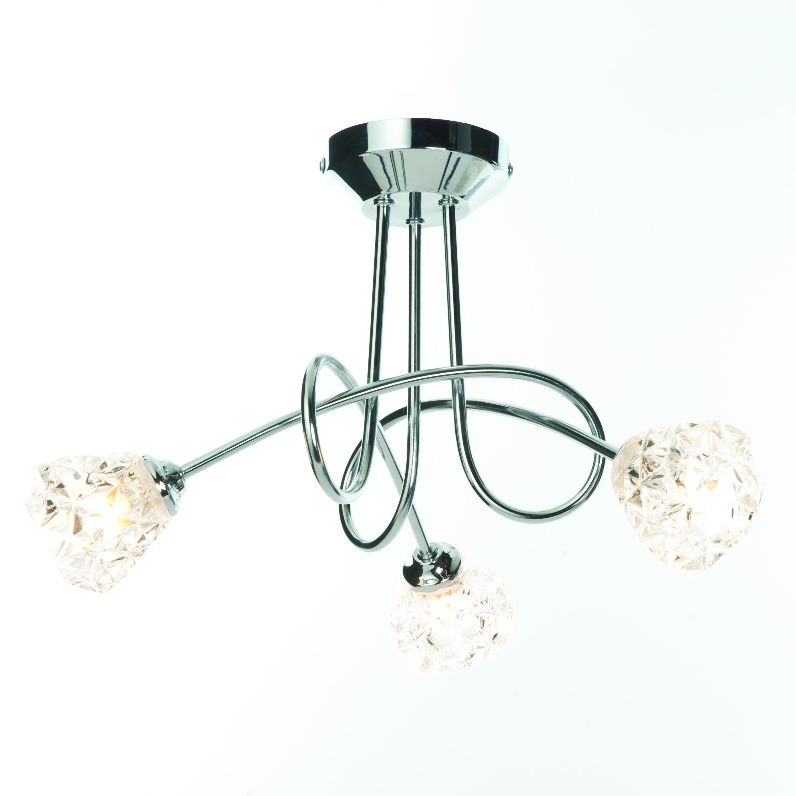 Ceiling Light Crossbar : Modern chrome way cross over ceiling light fitting