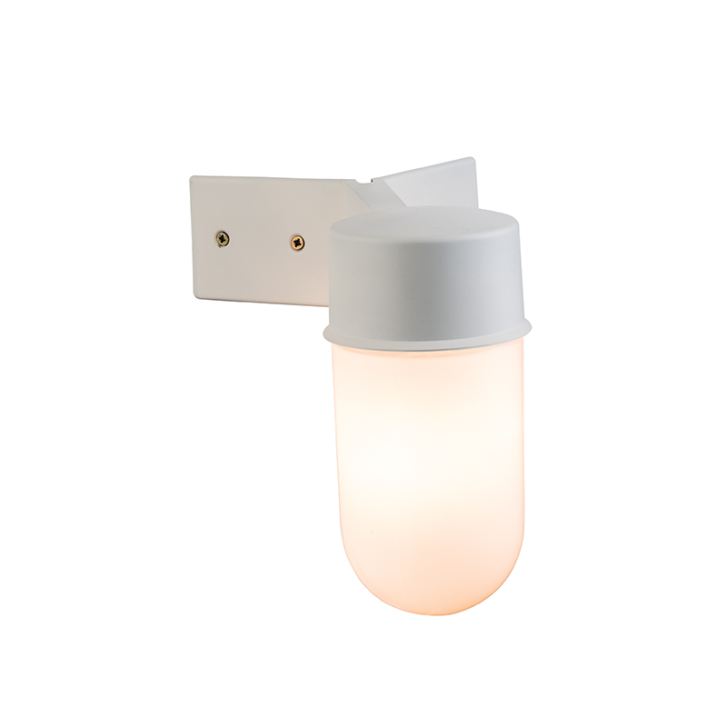 Corner Wall Mount Lamp : CORNER MOUNT Outdoor White Polycarb & Glass IP44 Exterior Wall Light Coast SAXBY eBay