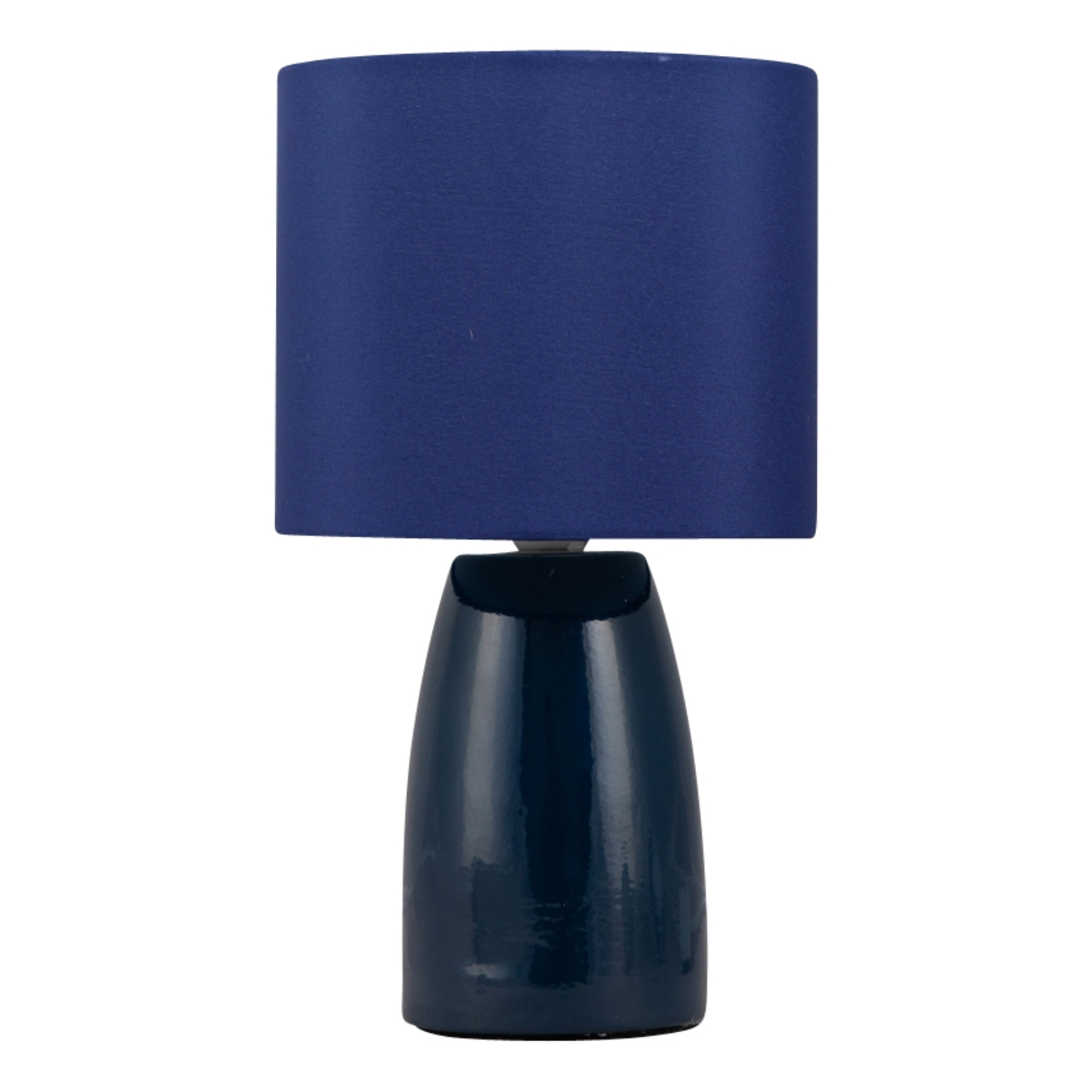 Ceramic 25cm Table Lamp Bedside Lights Grey Ivory Blue or Ochrewith Shade