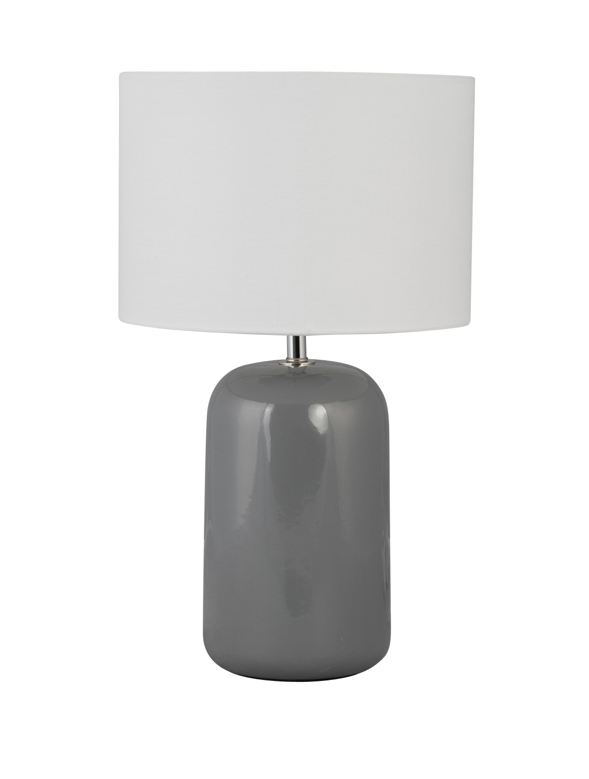 Table Lamp Grey Ceramic Bedside Light Deco Bed Retro With