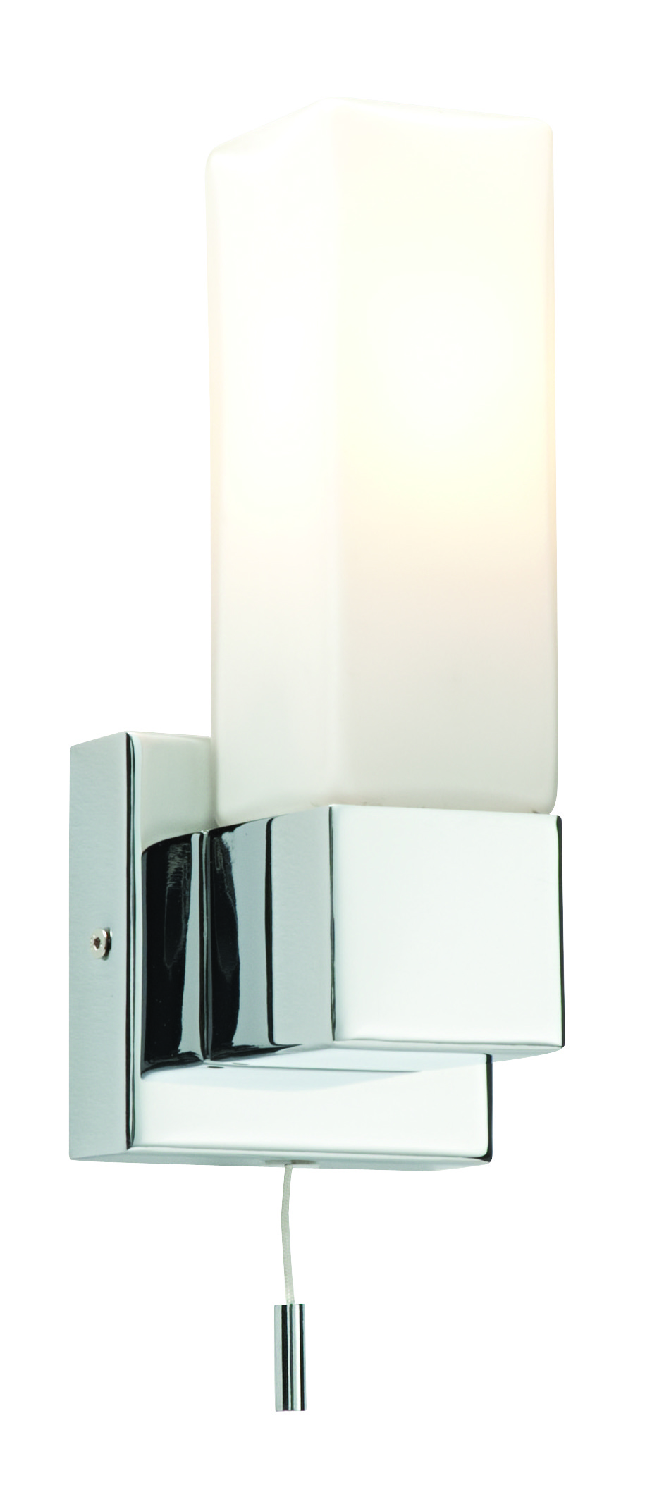 Modern designer chrome switched ip44 bathroom wall light for Contemporary bathroom wall sconces
