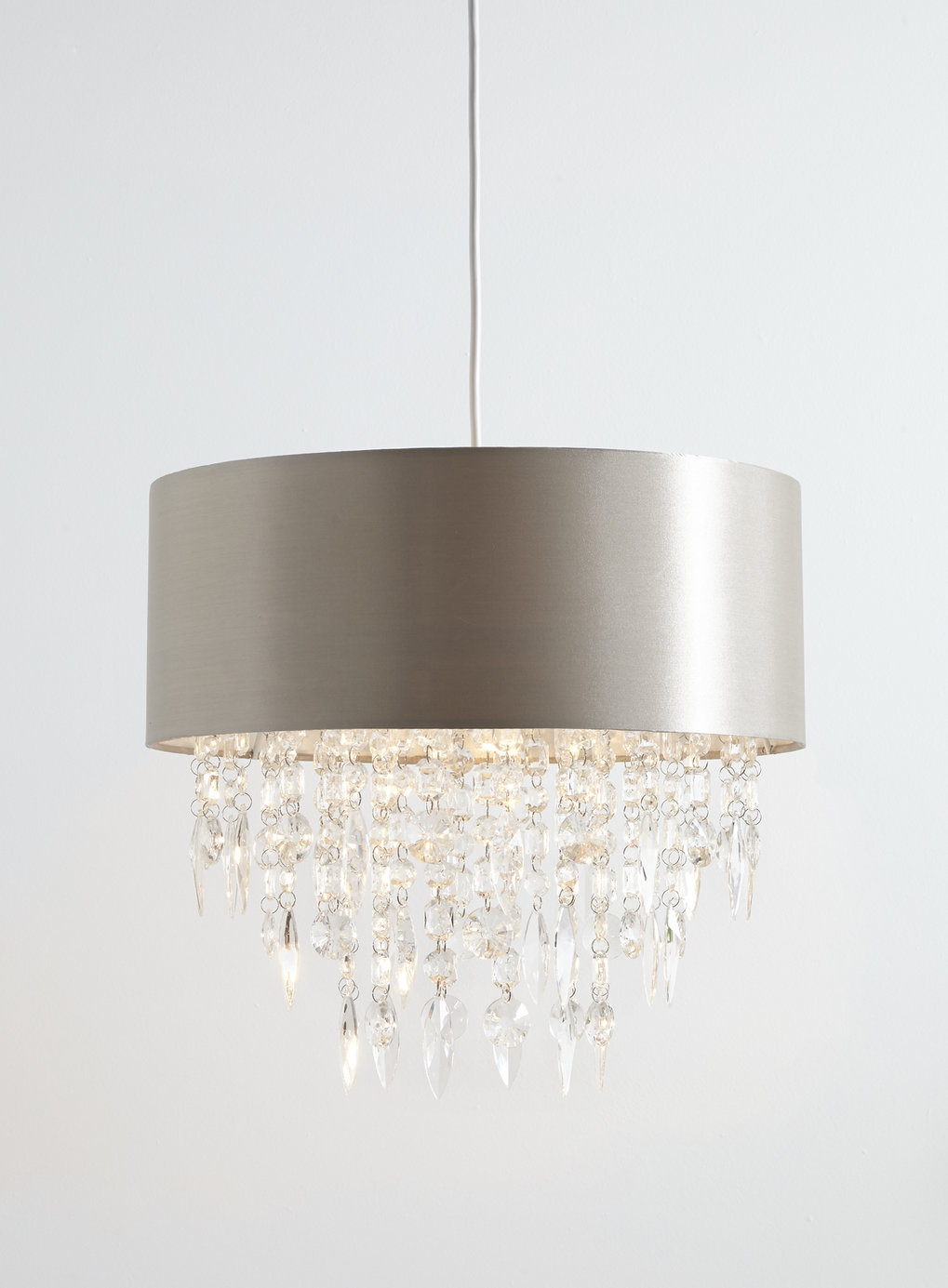 about modern mocha easy fit fabric ceiling pendant light lamp shade