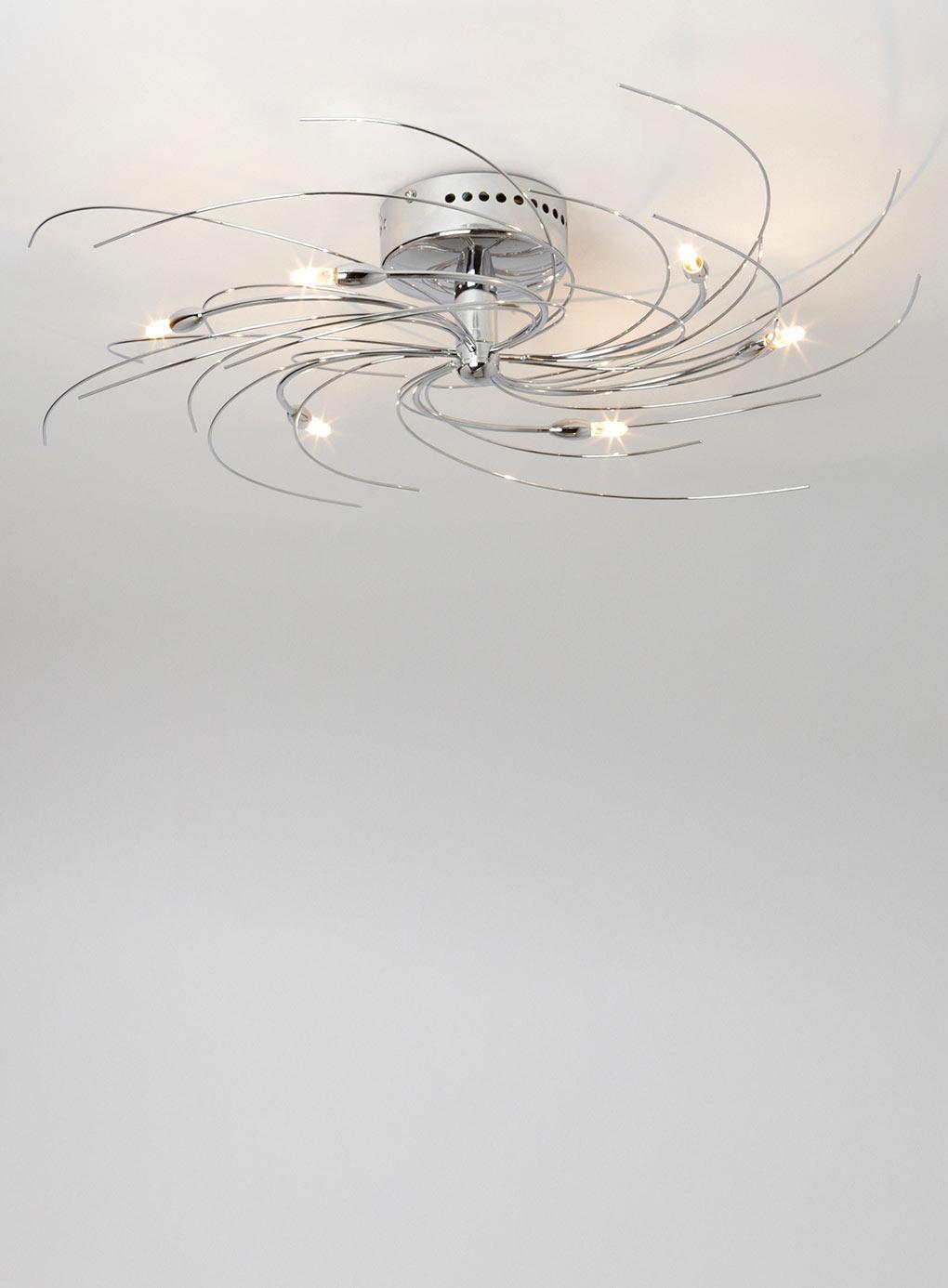 Spiral pendant ceiling light democraciaejustica chrome 6 light ceiling light fitting sprial design aloadofball Images