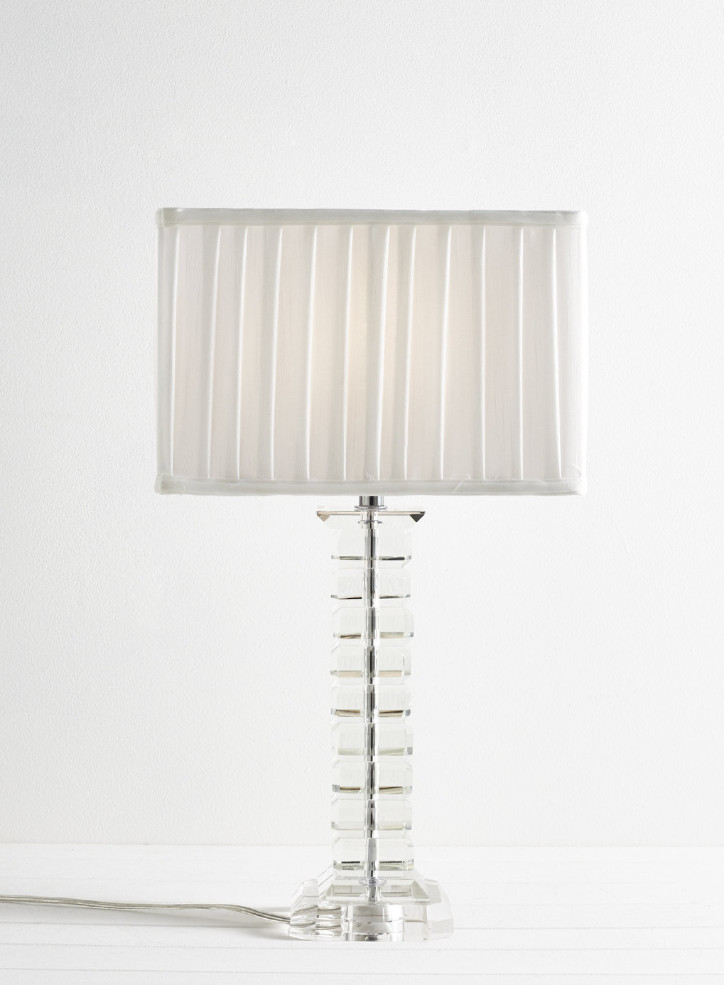 Paire de tall moderne verre lampe de table