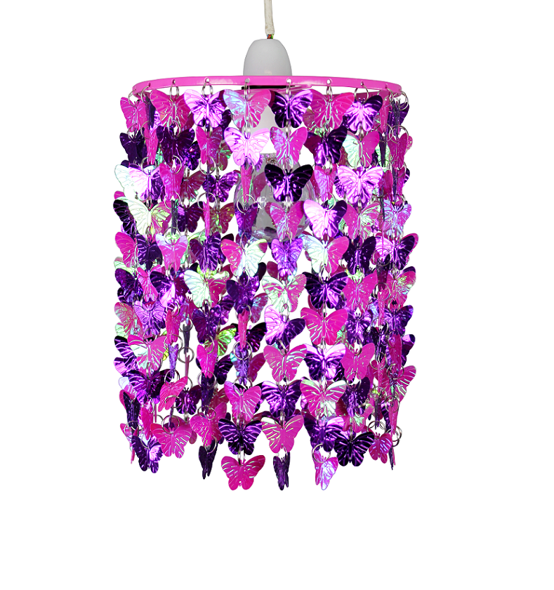 Girls Bedroom Nursery Pink Butterfly Ceiling Lights Shade