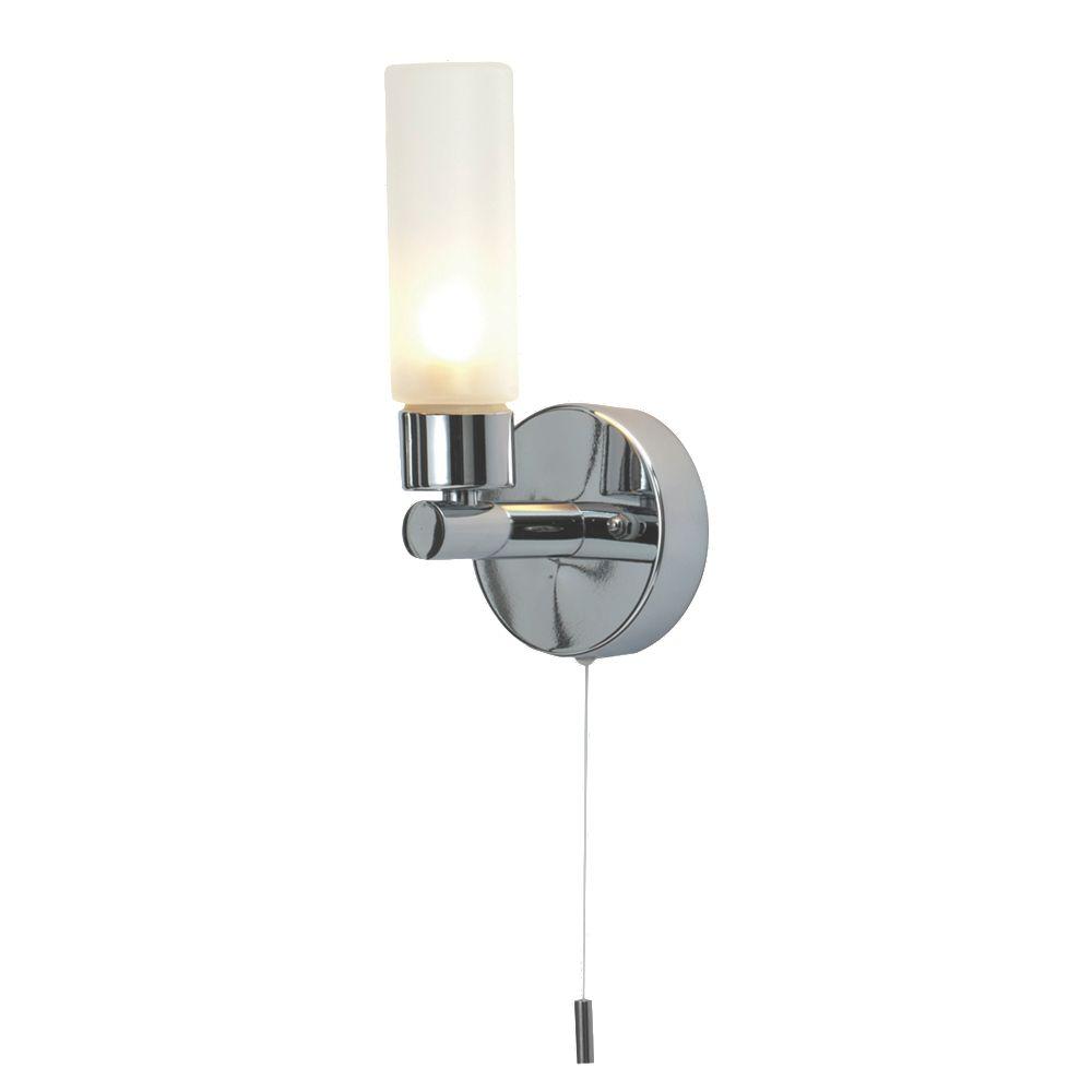 Modern Polished Chrome Amp Glass Ip44 Bathroom Wall Light