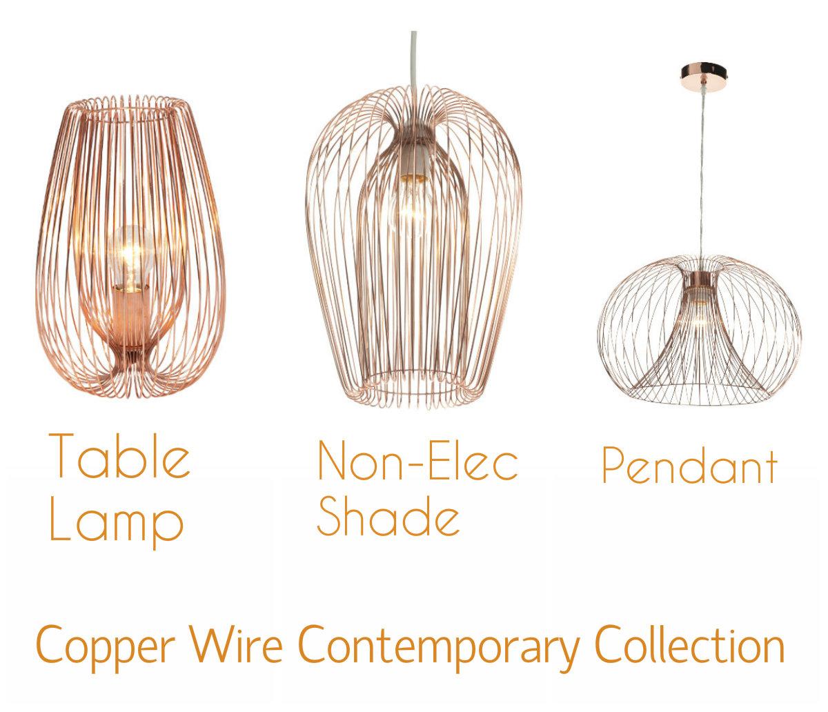 Modern copper metal wire lights table lamp pendant shade item specifics keyboard keysfo Gallery