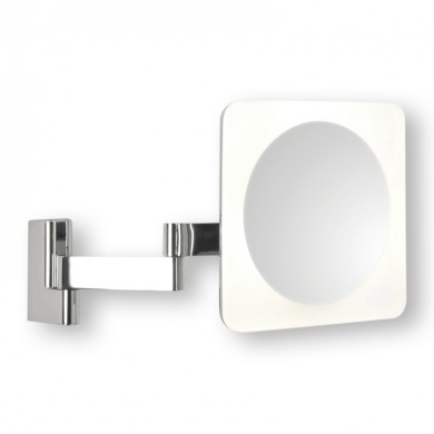 Chrome 1W LED IP44 Double Insulated Magnifying Mirror