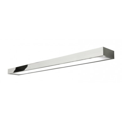 Chrome With Frosted Glass 54W T5 IP44 Double Insulated Bathroom Wall Light