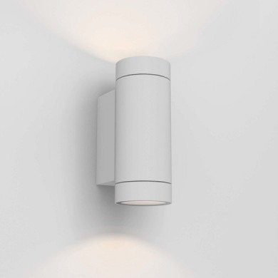 Astro Lighting - Dartmouth Twin GU10 1372012 (8539) - IP54 Textured White Wall Light