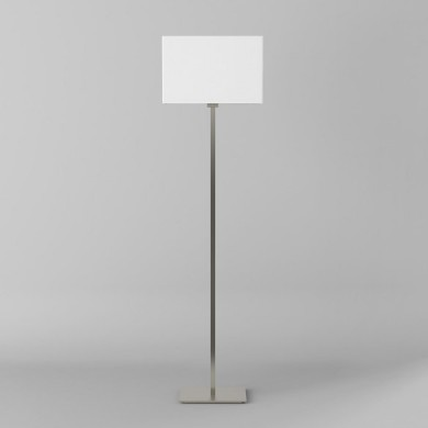 Astro Lighting - Park Lane Floor 1080017 (4517) & 5001002 (4002) - Matt Nickel Floor Light with White Shade Included