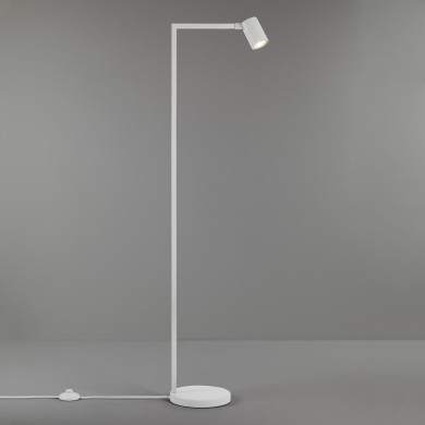 Textured White Adjustable Floor Lamp