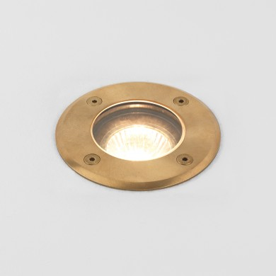Astro Lighting - Gramos Round 1312005 (7953) - IP65 Natural Brass Ground Light