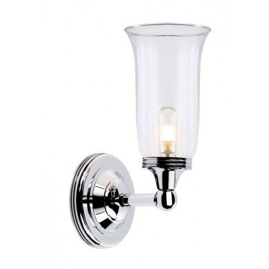 Chrome With Clear Glass 40W G9 IP44 Bathroom Wall light