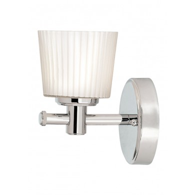Chrome With White Glass 40W G9 IP44 Bathroom Wall Light