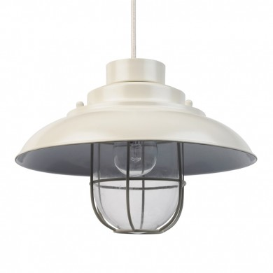 Cream Metal Fisherman's Lantern Pendant Shade