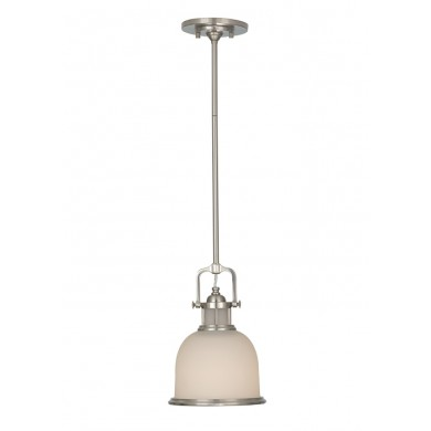 Brushed Steel 60W E27 Single Pendant