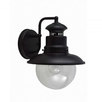 Black 60W E27 IP44 Garden Wall Light
