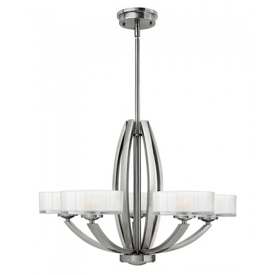 Brushed Nickel 60W G9 5 Light Pendant