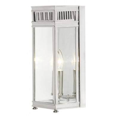 Chrome With Clear Glass 60W E14 IP44 Porch Light