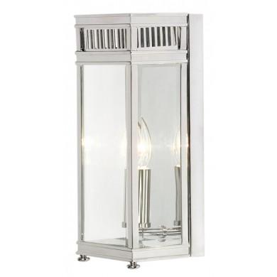Chrome With Clear Glass 60W E14 IP44 Porch Light