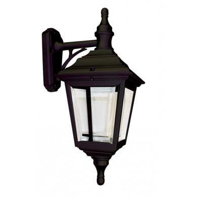 Black 100W E27 IP44 Double Insulated Traditional Garden Lantern