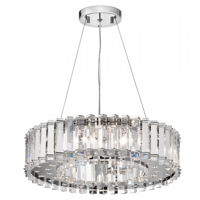 Chrome 50W G9 527mm Diameter Crystal Pendant