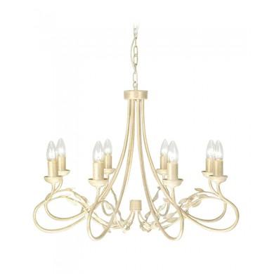 Ivory/Gold 60W E14 8 Light Pendant