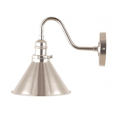 Nickel 60W E27 Wall Light