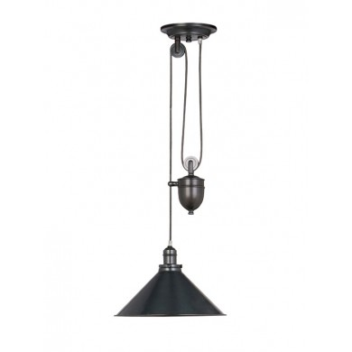 Old Bronze 100W E27 Rise And Fall Pendant