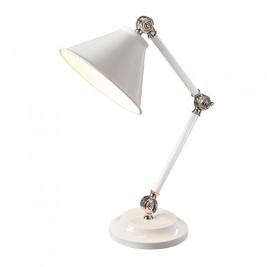 1 Light Element Mini Table Lamp White With Polished Nickel