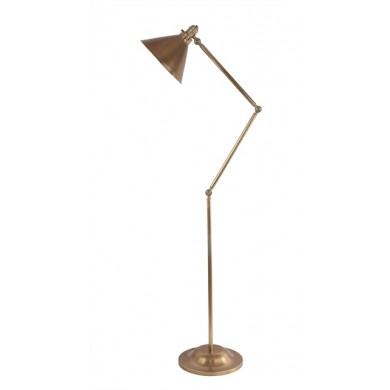 Aged Brass 100W E27 Adjustable Floor Lamp