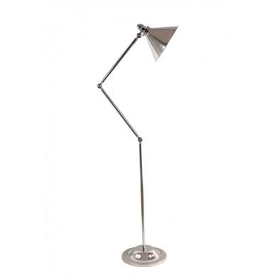 Nickel 100W E27 Adjustable Floor Lamp