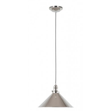 Nickel 100W E27 Single Pendant