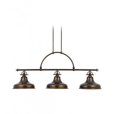 Palladian Bronze 100W E27 3 Bar Pendant