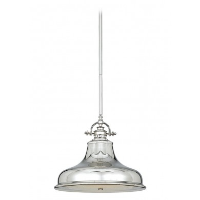 Imperial Silver 100W E27 343mm Diameter Single Pendant